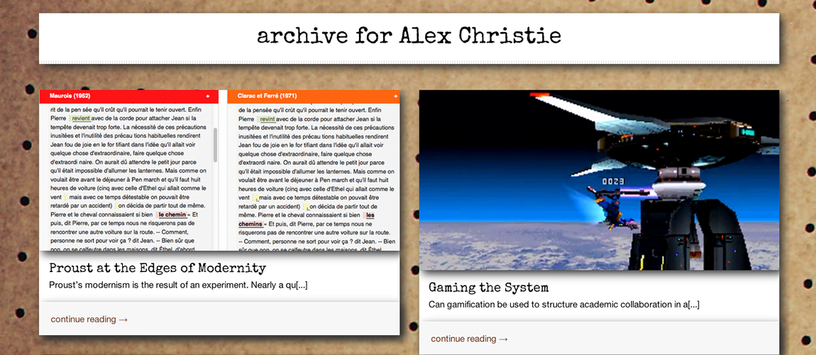 Archive for Alex Christie