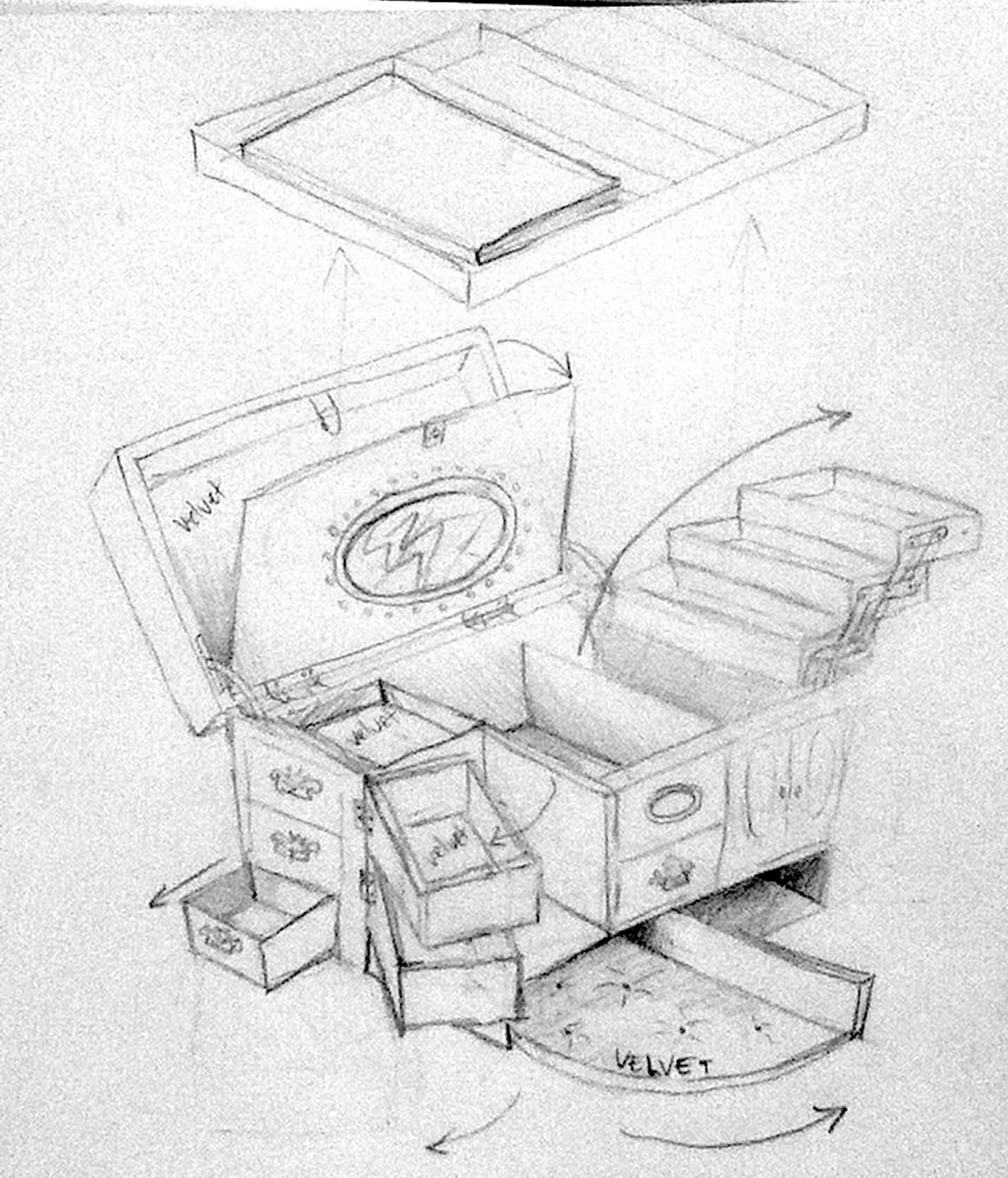jewelry box sketch