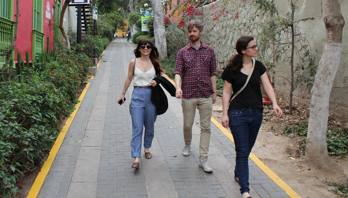 Nina, Shaun, and Katie in the Barranco District of Lima