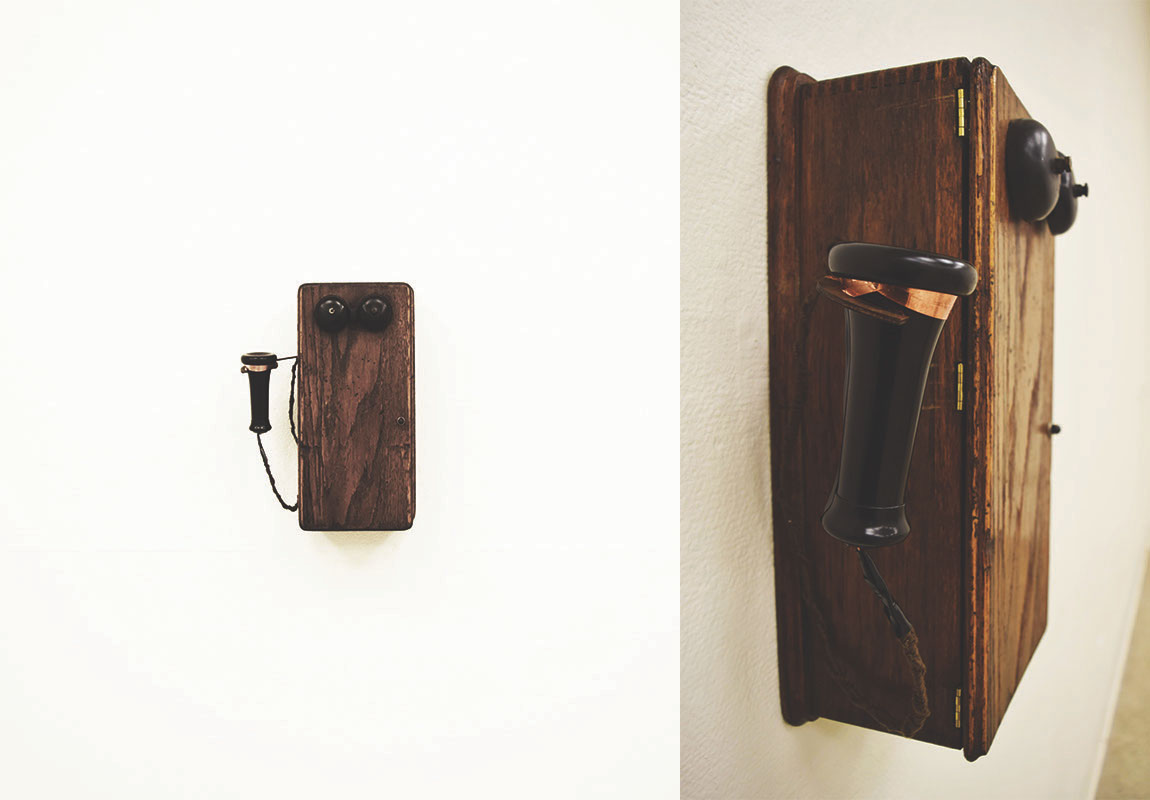 Wall-mounted phone in the Jacob exhibit (image care of Danielle Morgan)