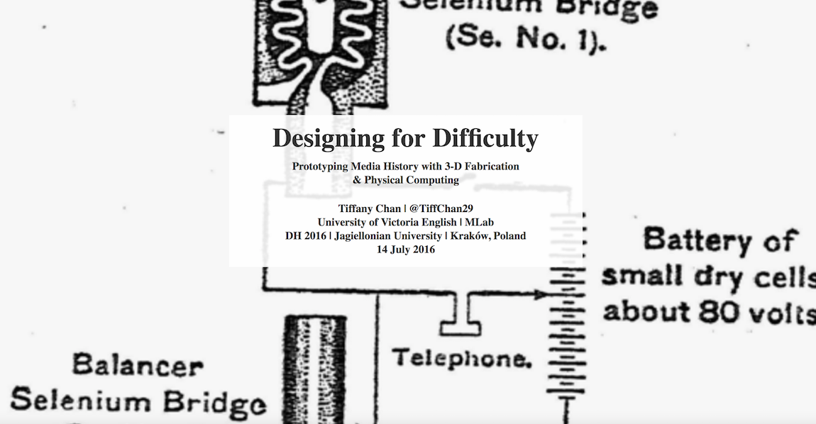 "Digital Humanities 2016, ""Designing for Difficulty"""