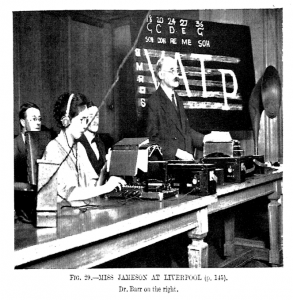 Mary Jameson Demonstrating the Optophone