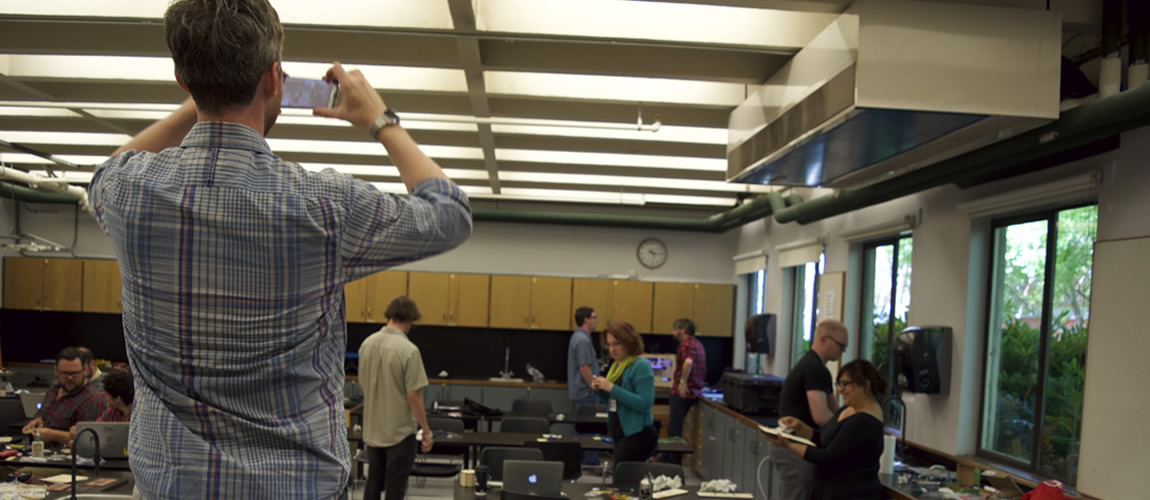 Shaun Taking Photographs during the MLab's 2015 DHSI Course