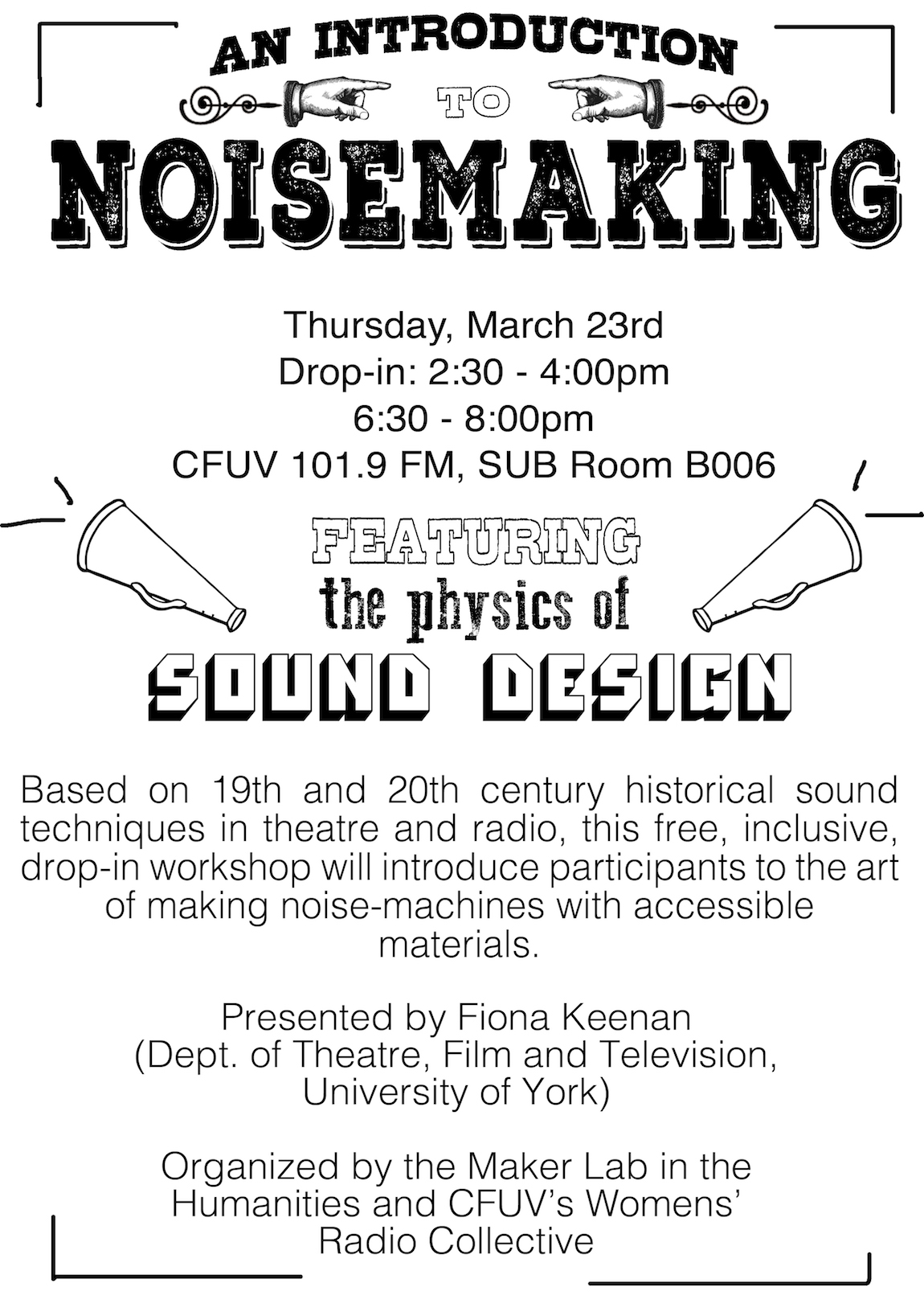 An Introduction to Noisemaking, by Fiona Keenan